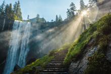 Vernal Falls In Yosemite Natio...