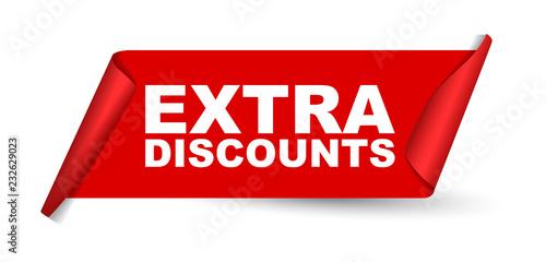 Fotografía  red vector banner extra discounts