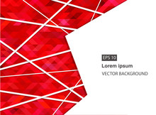 Red Abstract Geometric Business Background And Presentations