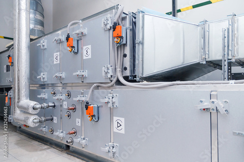 Fotografia, Obraz  Industrial ventilation handling unit