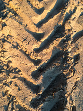 Footprints In The Sand From A ...