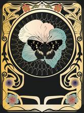 Butterfly Art Nouveau Frame