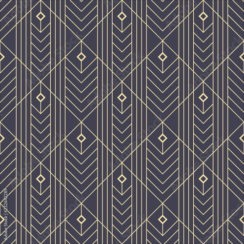 simple seamless art deco geometric 6 golden line geometric illustration wallpaper graphic design vector