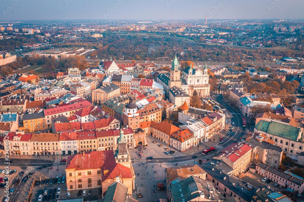 Fototapety, obrazy: Lublin z lotu ptaka