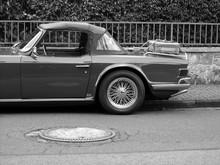 Britischer Roadster Mit Stoffv...