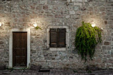 Facade Of Old House With A Woo...