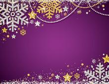 Purple Christmas Background Wi...