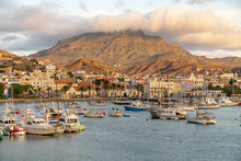 View On The Harbor Of Mindelo ...