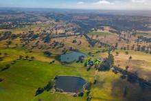 View Over Scenic Farmland In The Adelaide HIlls, Australia