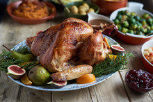 Turkey Dinner And Side Dishes ...