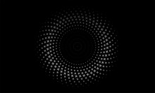 Vector Illustration Of The Pattern Of Gray Dots On Black Background. EPS10.