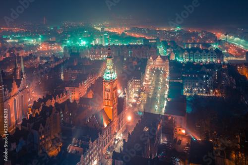 Gdańsk z lotu ptaka Fotobehang
