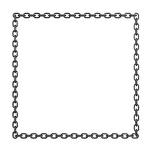 3d Rendering Of An Iron Chain ...