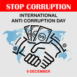stop corruption day, vector