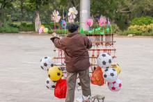 Chinese Old Man Street Vendor ...