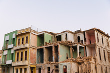 Dilapidated And Broken Down Building In Havana, Cuba