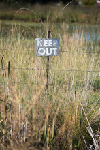 Keep Out Sign On A Rural Prope...