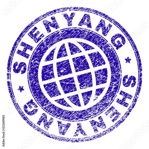 Fotografie, Obraz  SHENYANG stamp print with grunge texture