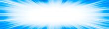 Blue Starburst Explosion Border Frame