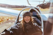 Woman Ready To Take Flight In ...