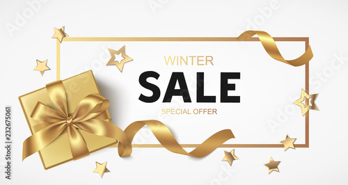Photo  New Year or Christmas Sale design template