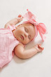 Sleeping Baby Girl Portrait
