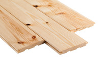 Stack Wood Plank Isolated On White Background