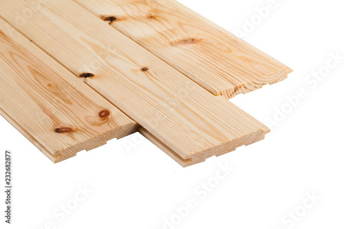 Fototapeta stack wood plank isolated on white background obraz na płótnie