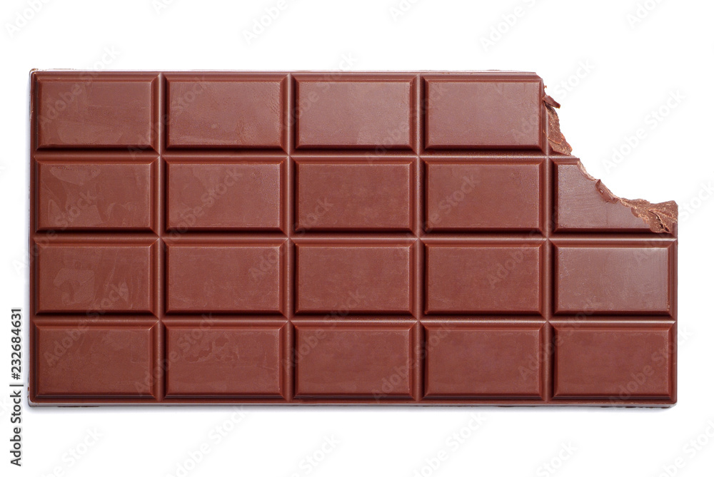 Fototapety, obrazy: Chocolate bar with the corner bitten off