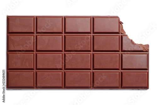 Chocolate bar with the corner bitten off Canvas Print