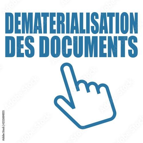 Photo Logo dématérialisation des documents.