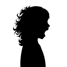 Vector Silhouette Of Face Of G...