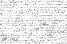 Rough Brick Wall With Peeling Plaster, Vector Image