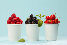 Berries In Paper Cups