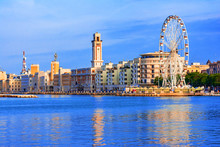 Bari, Region Of Apulia, Italy: Bari, Region Of Apulia, Italy: Big Ferris Wheel On The Waterfront