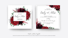 Wedding Vector Floral Invite, ...