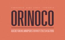 Orinoko Condensed Semibold San Serif Vector Font, Alphabet, Typeface