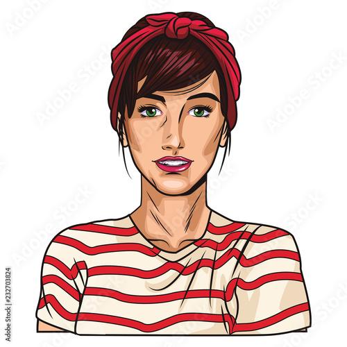 Pop art woman cartoon Poster Mural XXL