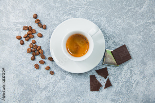 Fotografie, Obraz  Coffee espresso beans dark chocolate background