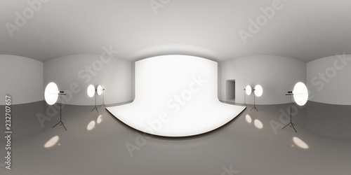 HDRI environment map, abstract spherical panorama background with photo studio s Canvas-taulu
