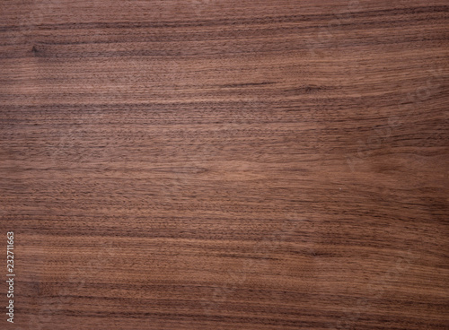 Fotomural Wood texture of natural american black walnut radial cut with oil wax finish