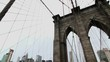 Brooklyn bridge and Manhattan cityscape at day time