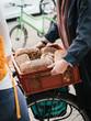 Bäckerei Lieferdienst mit Fahrrad