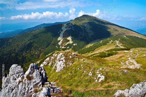 Foto auf Gartenposter Gebirge The highest mountain of Mala Fatra, nature view