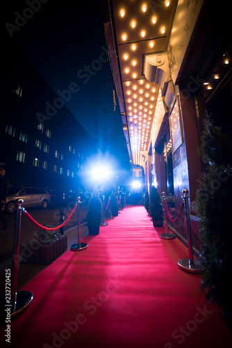 red carpet is traditionally used to mark the route taken by heads of state on ce Canvas Print