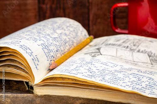 Carta da parati vintage expedition journal