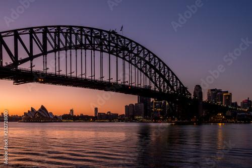 In de dag Australië Sydney Harbour at dawn
