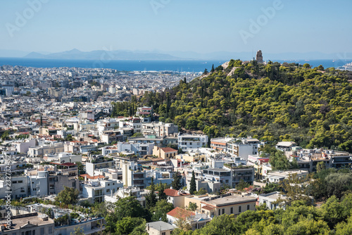 Athens View and Philopappos Hill from the Acropolis Canvas Print