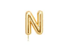 Gold Foil Alphabet, Letters N ...