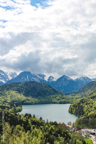 Foto op Plexiglas Caraïben view of the Alpsee lake near the Neuschwanstein castle in Bavaria